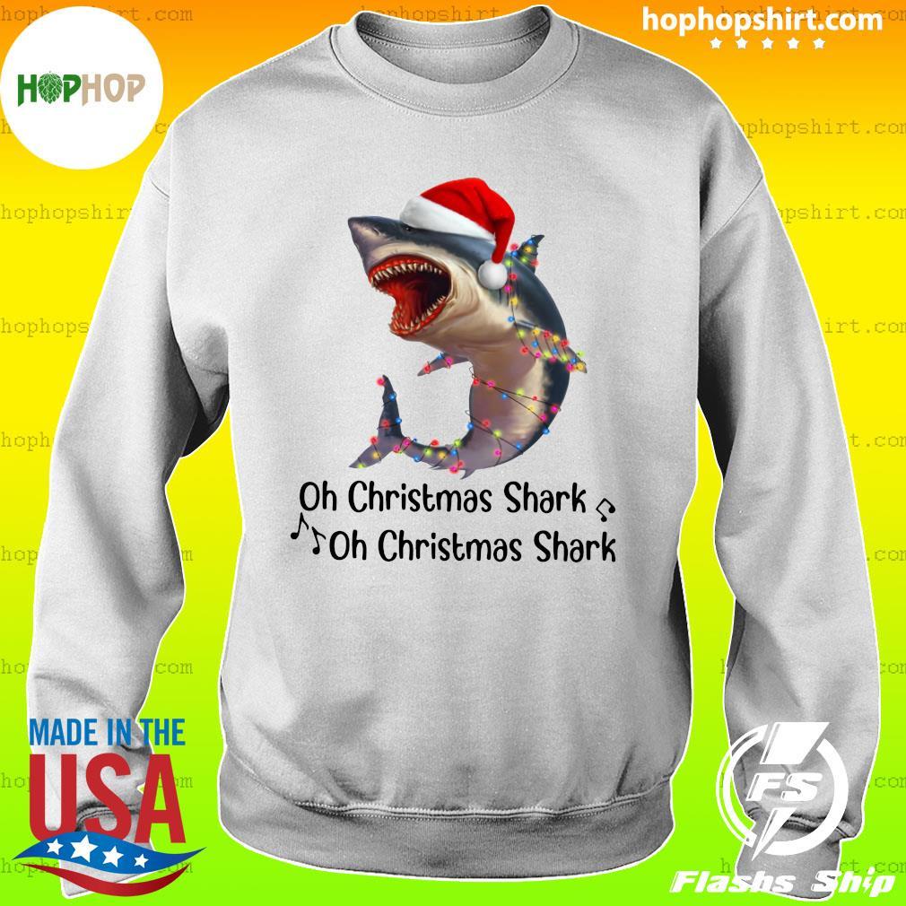 Shark Santa Light Oh Christmas Shart Oh Christmas Shark Sweats Sweater