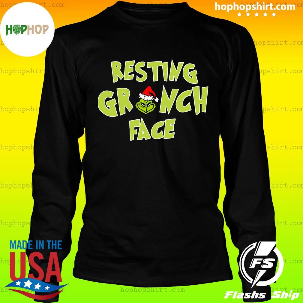 The Grinch Santa Resting Grinch Face Sweats LongSleeve