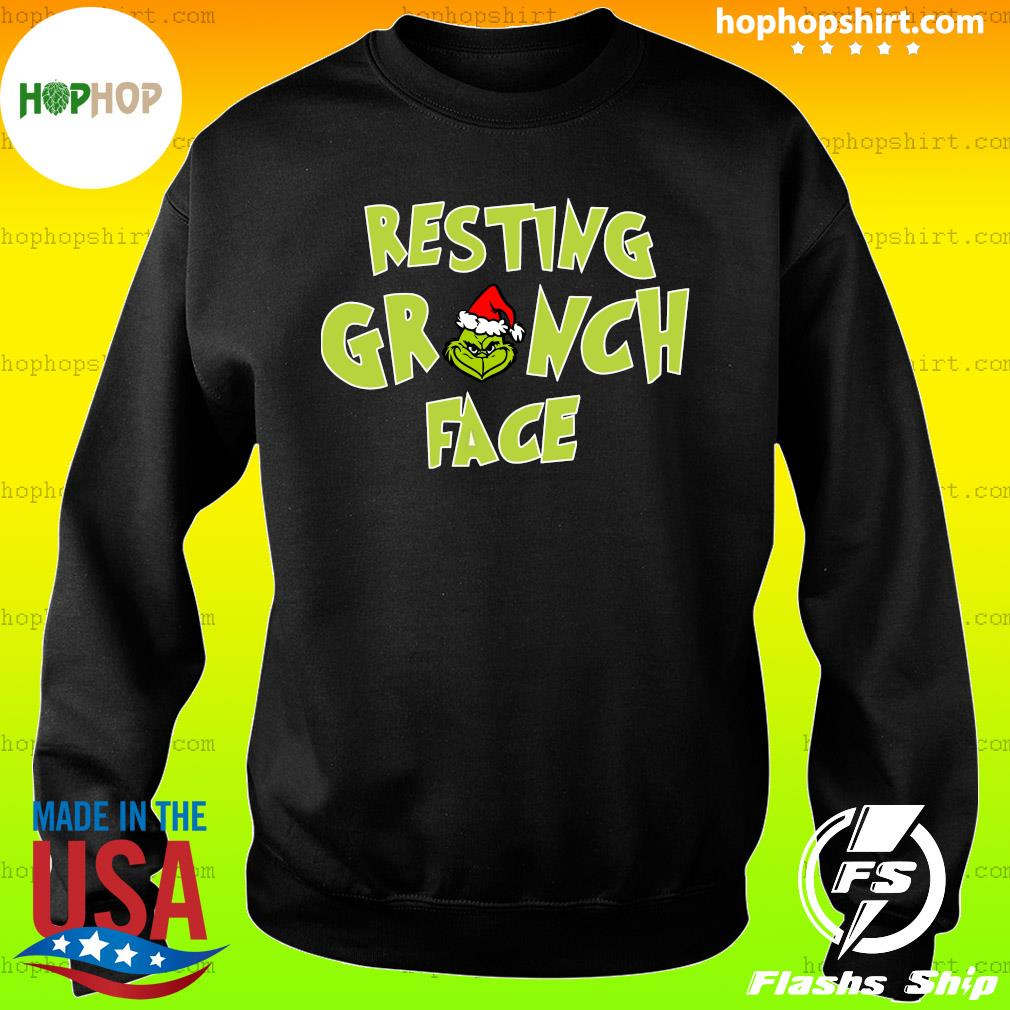 The Grinch Santa Resting Grinch Face Sweats Sweater