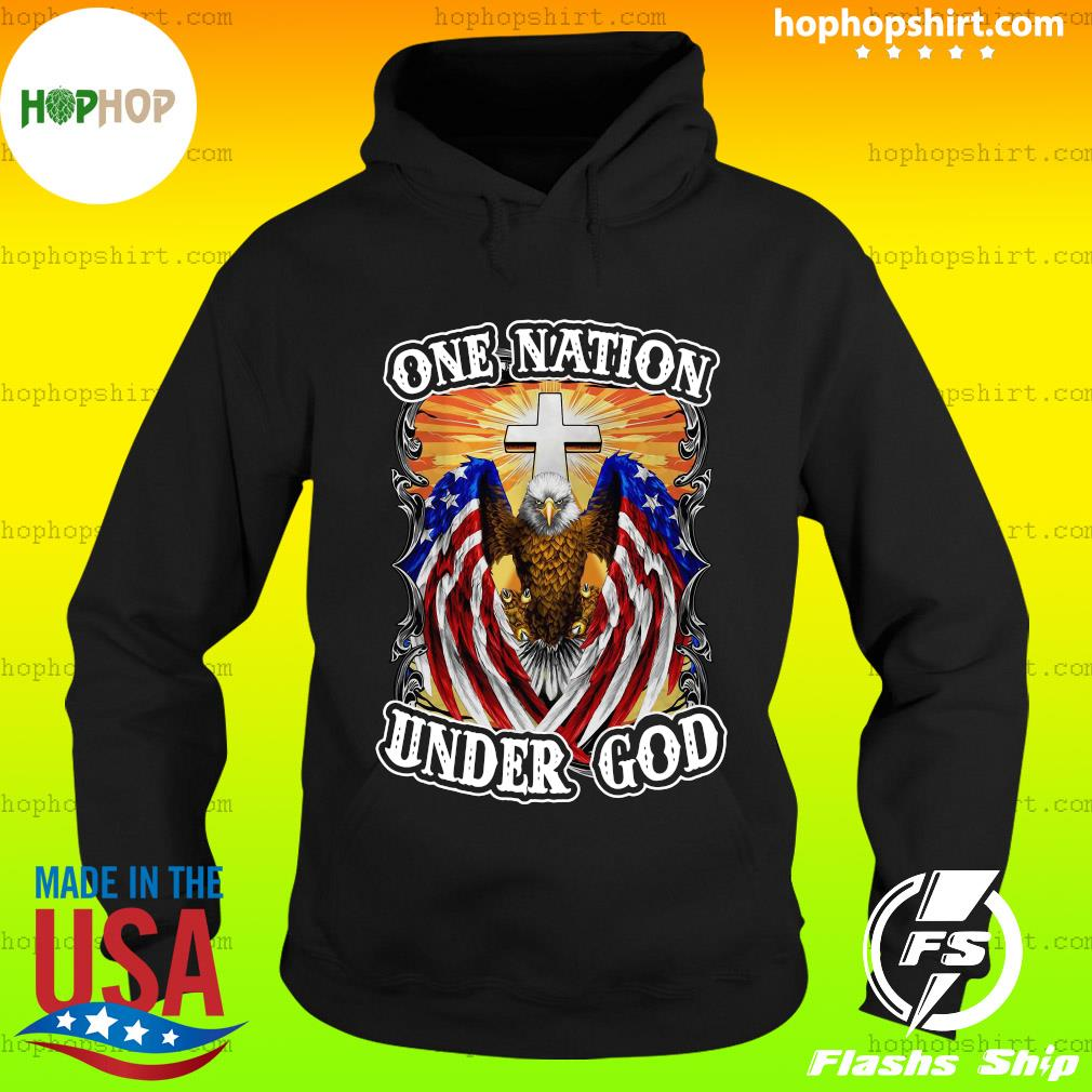 Eagles American Flag One Nation Under God T-Shirt Hoodie
