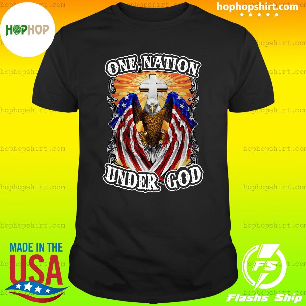 Eagles American Flag One Nation Under God T-Shirt